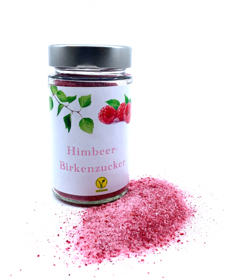 Raspberry birch sugar