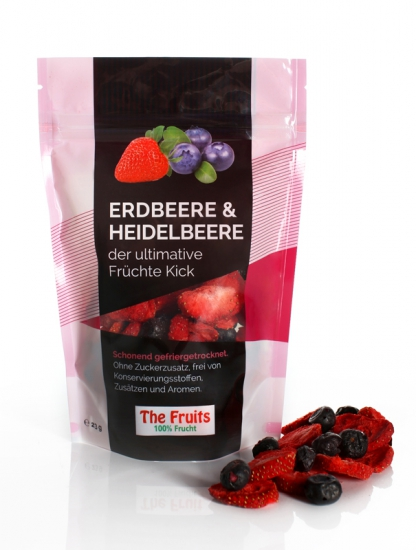 Freeze-Dried Strawberries & Blueberries 10 pieces