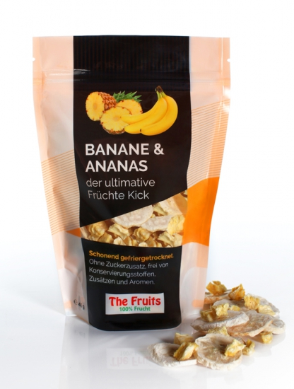 Freeze-Dried Bananas & Pineapple 5 pieces